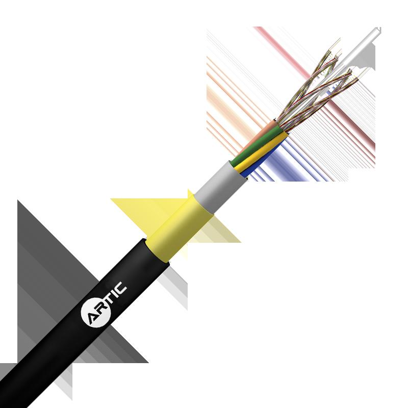 Cables Fibra Optica ADSS Cubierta Simple 100 % Seco vano 80 Mt Loose Tube* 6//144 FO