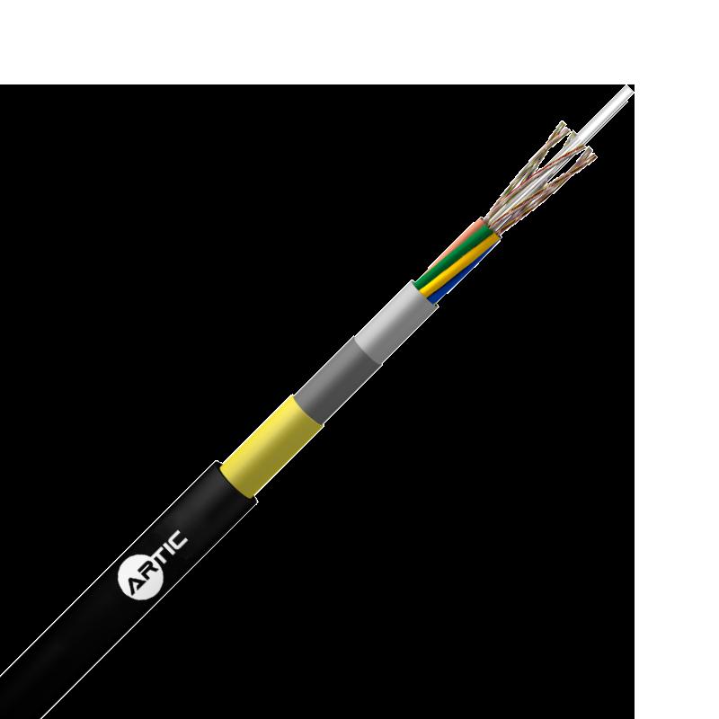 Cables de Fibra Optica Cubierta Doble Aramida Seco Loose Tube