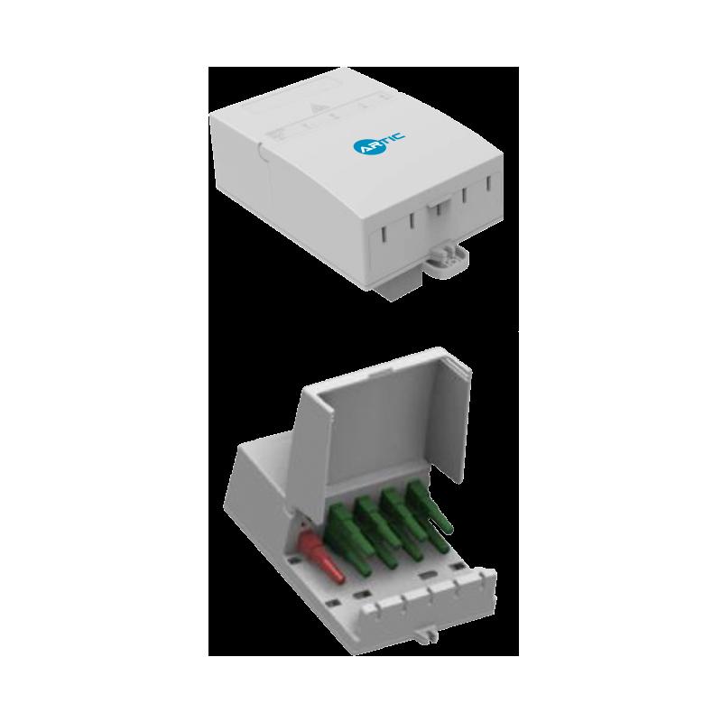 Caja de distribución indoor 2+8 puertos